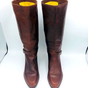 Leather ENZO ANGIOLINI RIDING BOOTS